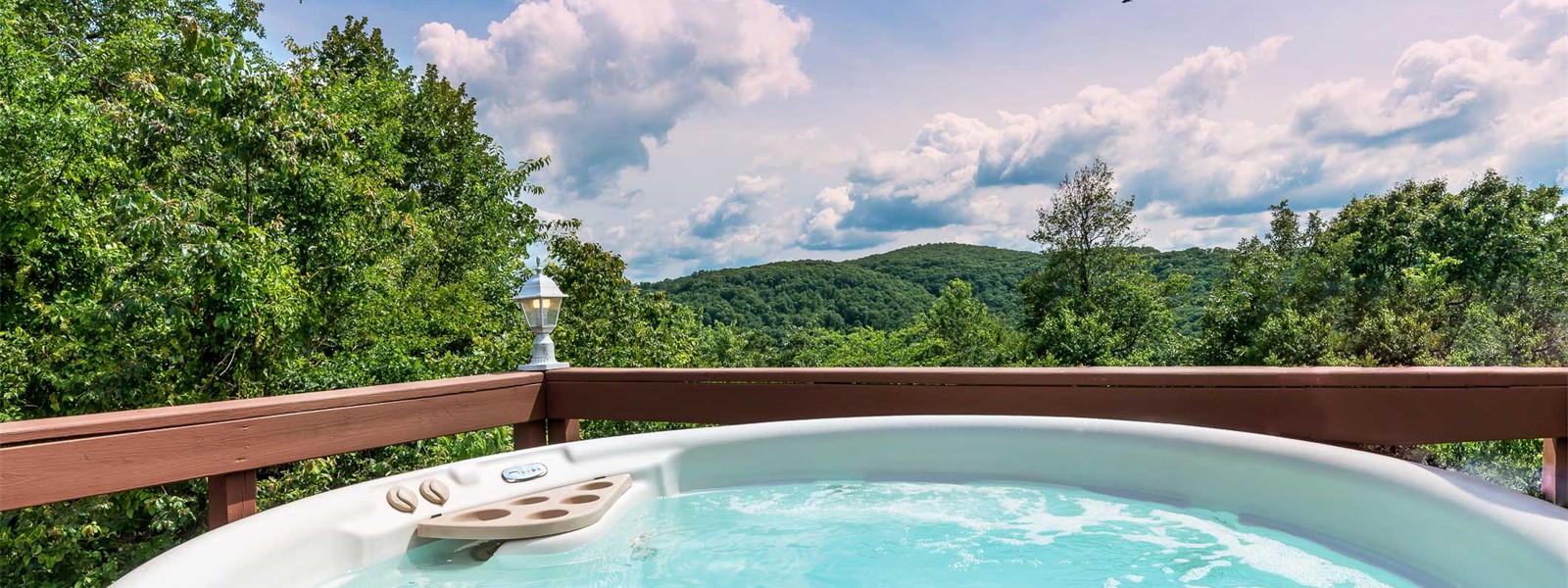 Sanctuary Suite hot tub view